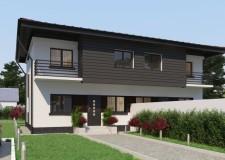 Vila in Duplex, 3 dormitoare, 2 bai, living, buc, terasa, 2018